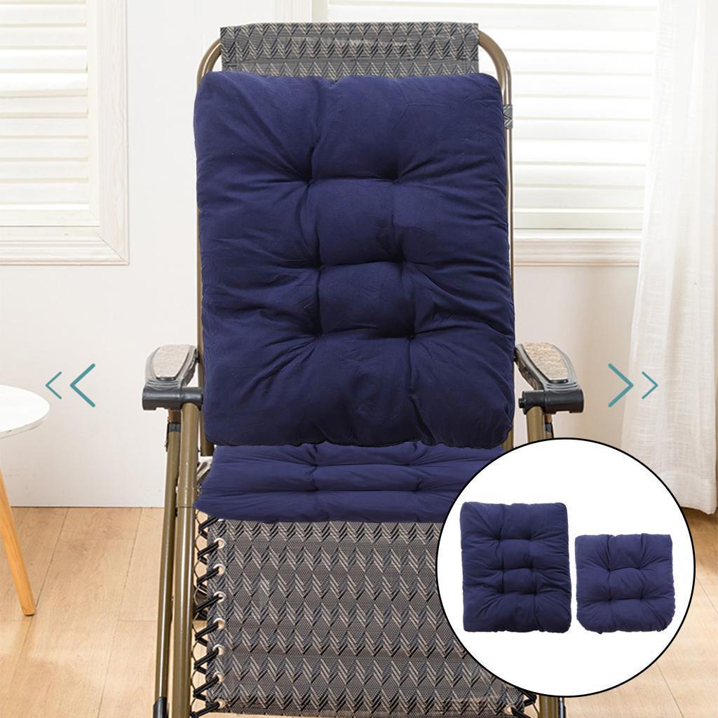 miniature 17 - Ensemble de coussins de chaise berçante inclinable avec attaches Jardin