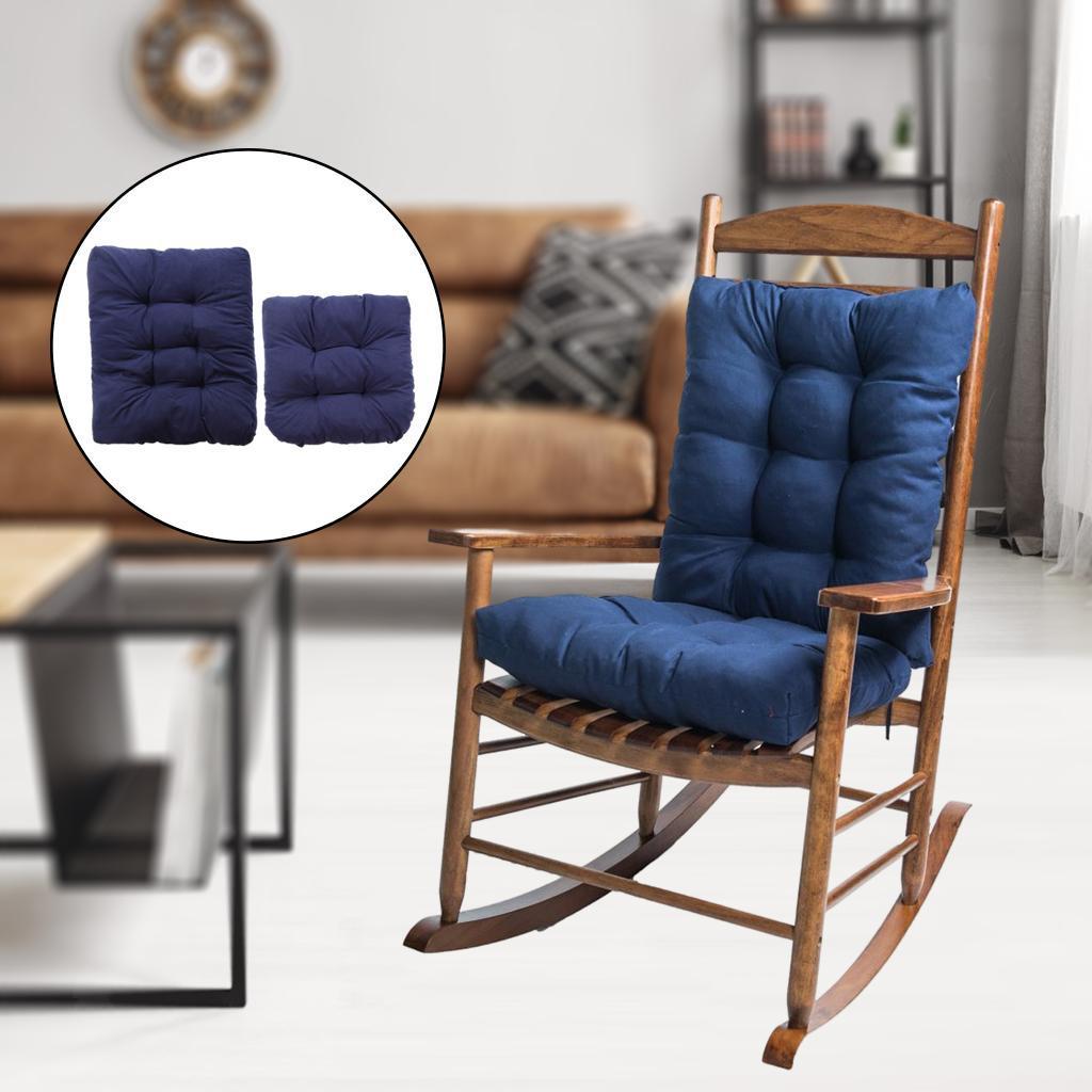 miniature 14 - Ensemble de coussins de chaise berçante inclinable avec attaches Jardin