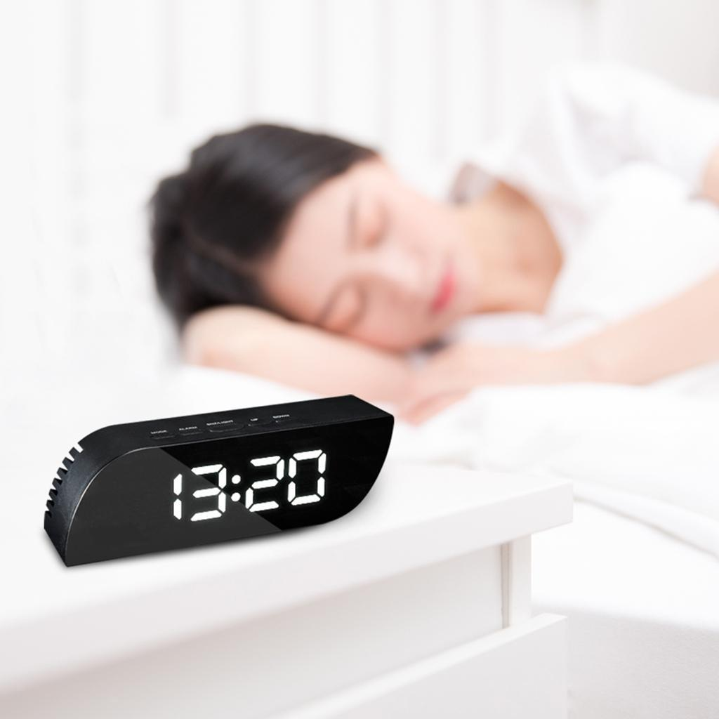 thumbnail 8 - Desk Digital Time Calendar Snooze Alarm Clock LED Large Mirror Temperature