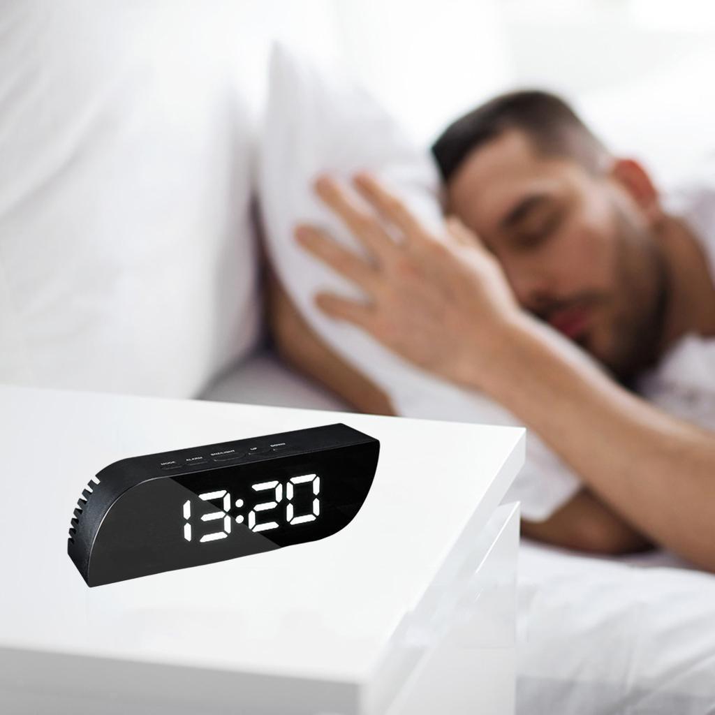 thumbnail 7 - Desk Digital Time Calendar Snooze Alarm Clock LED Large Mirror Temperature