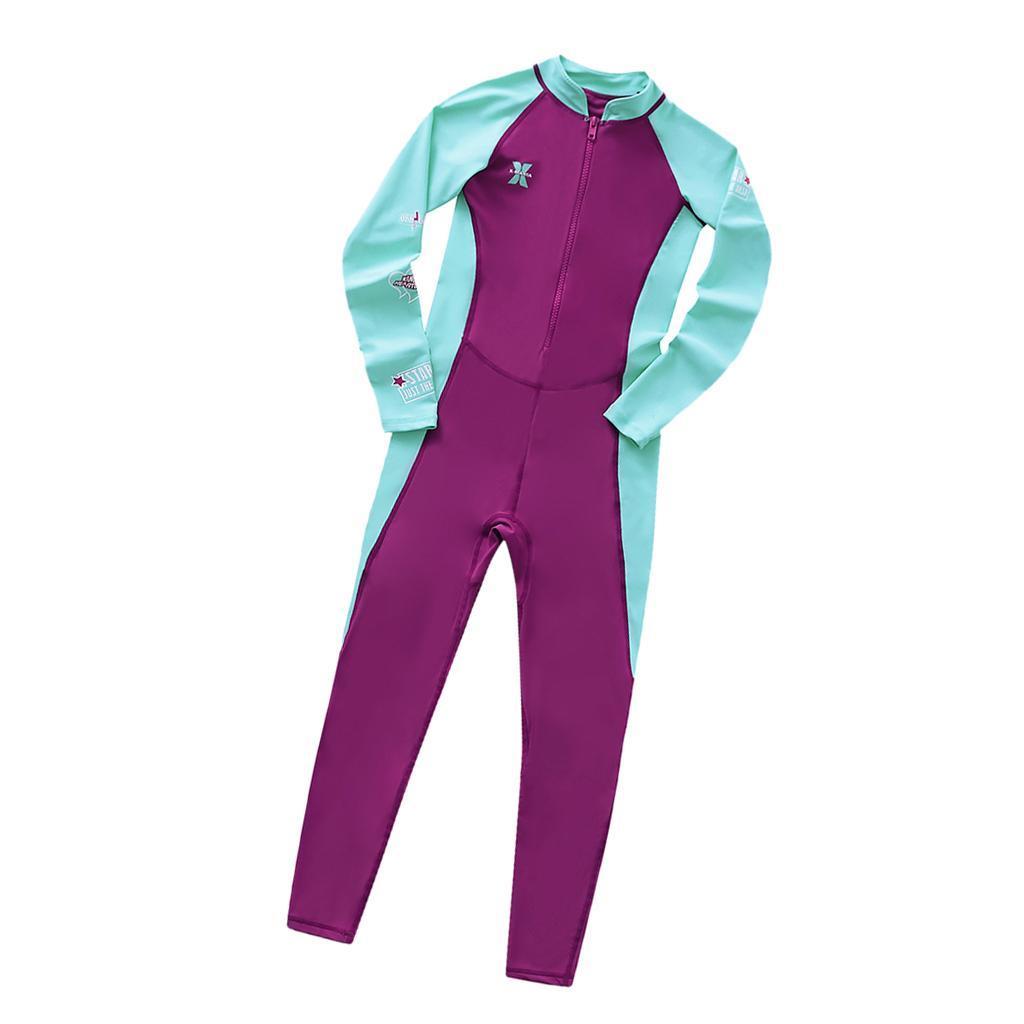 Children-Long-Sleeve-Swimsuit-Sun-Protective-Swimwear-Diving-Zip-Wetsuits thumbnail 3