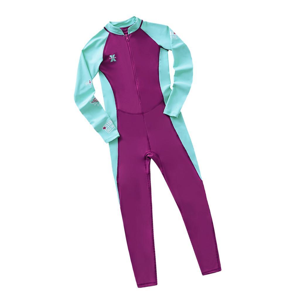 Children-Long-Sleeve-Swimsuit-Sun-Protective-Swimwear-Diving-Zip-Wetsuits thumbnail 4