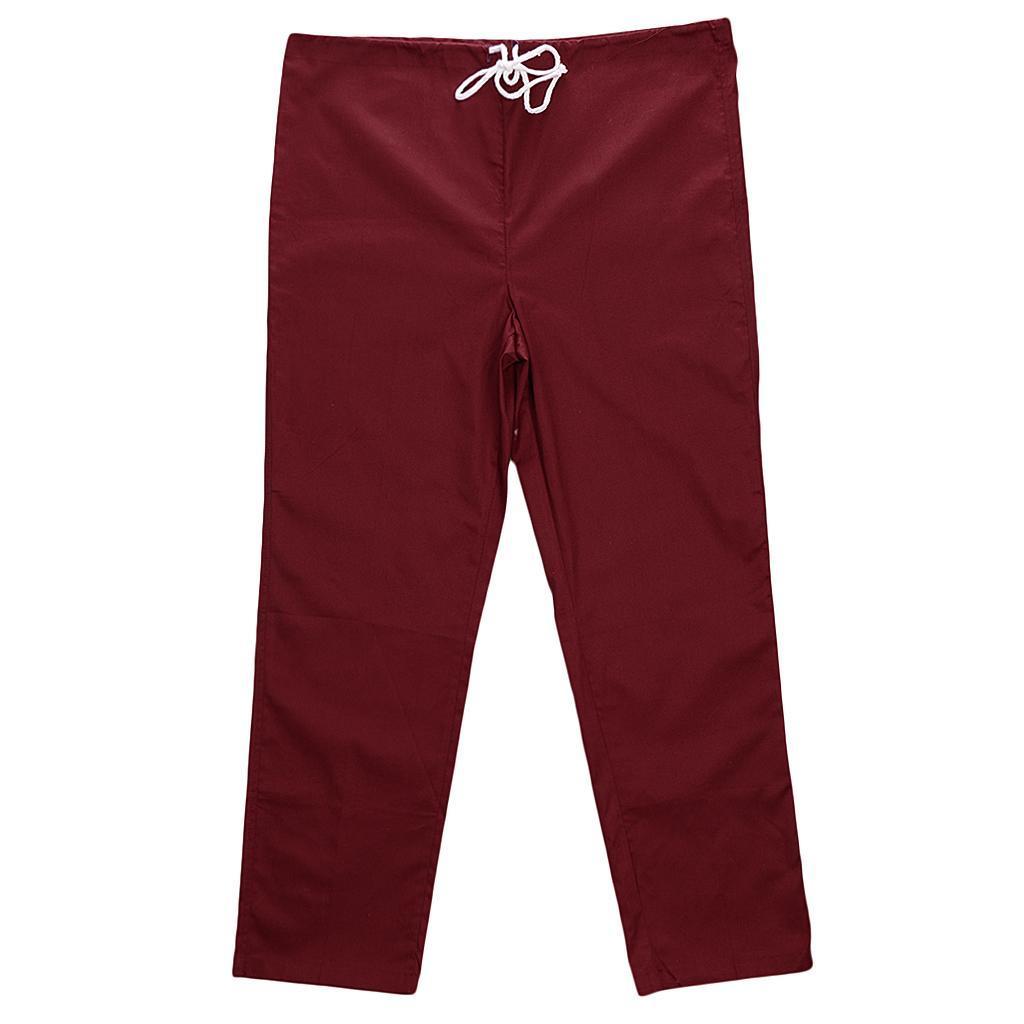 Men-Women-Scrub-Sets-Medical-Spa-Nursing-Clinic-Hospital-Uniform-Top-Pants miniature 65