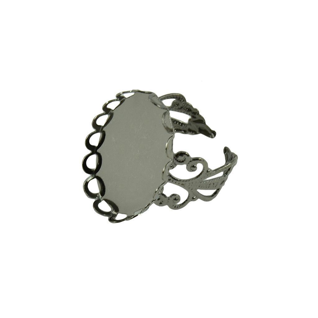 miniatura 8 - 10pcs Ovale regolabile Portabili Lunetta Impostazione Anello Anelli Fai da Te
