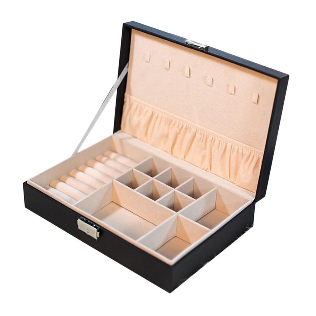 Boite-a-Bijoux-Boite-De-Bague-Multi-usages-Boucles-D-039-oreilles-Collier-Bijoux miniature 10