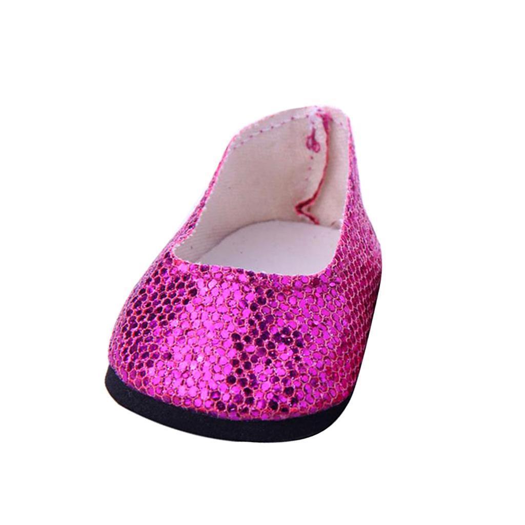 Stilvolle-Outfit-Pailletten-Schuhe-Fuer-18-039-039-My-Life-Dolls Indexbild 6