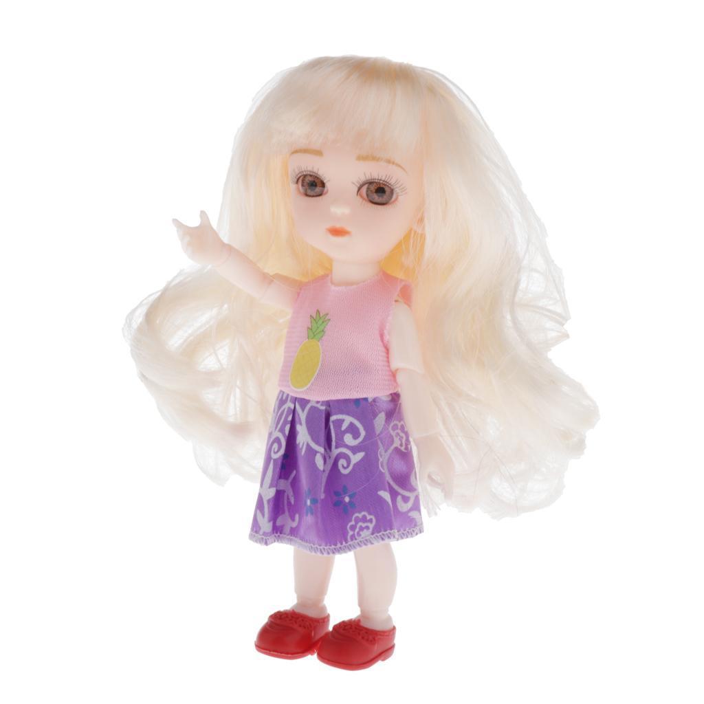 16cm Fashion Baby Mini Dolls Simulation Dolls Realistic Early Education