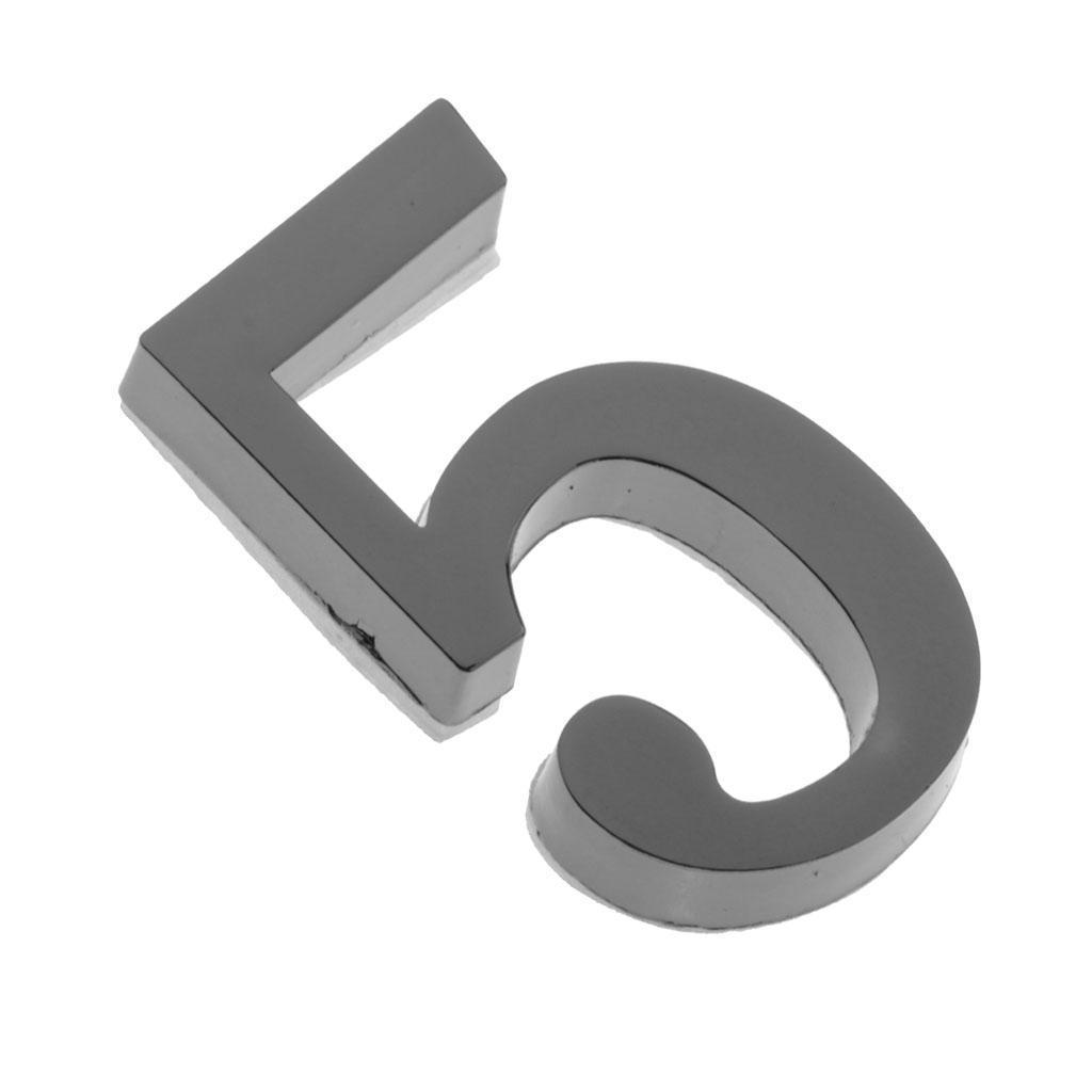 Metal-House-Door-Plaque-Hotel-Gate-Office-Dormitory-Number-Sign-Sticker miniature 15