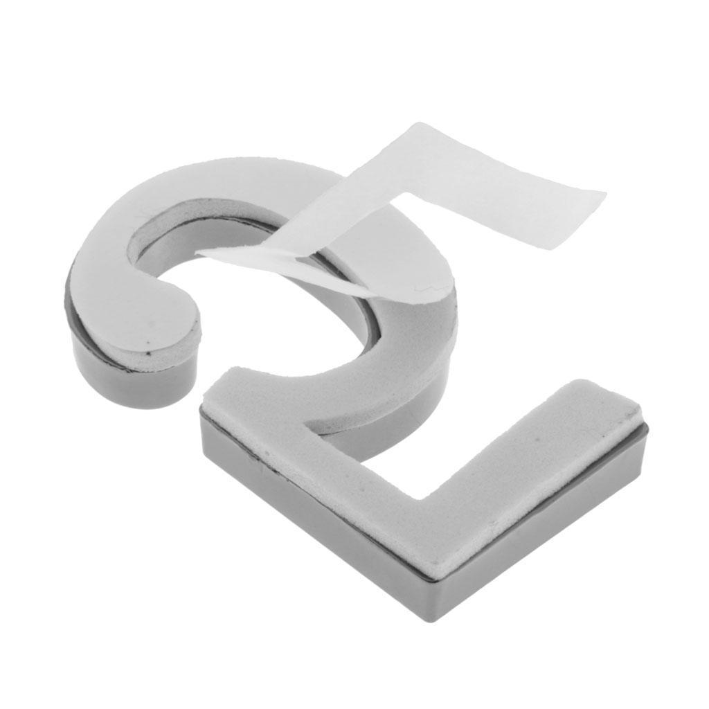 Metal-House-Door-Plaque-Hotel-Gate-Office-Dormitory-Number-Sign-Sticker miniature 16