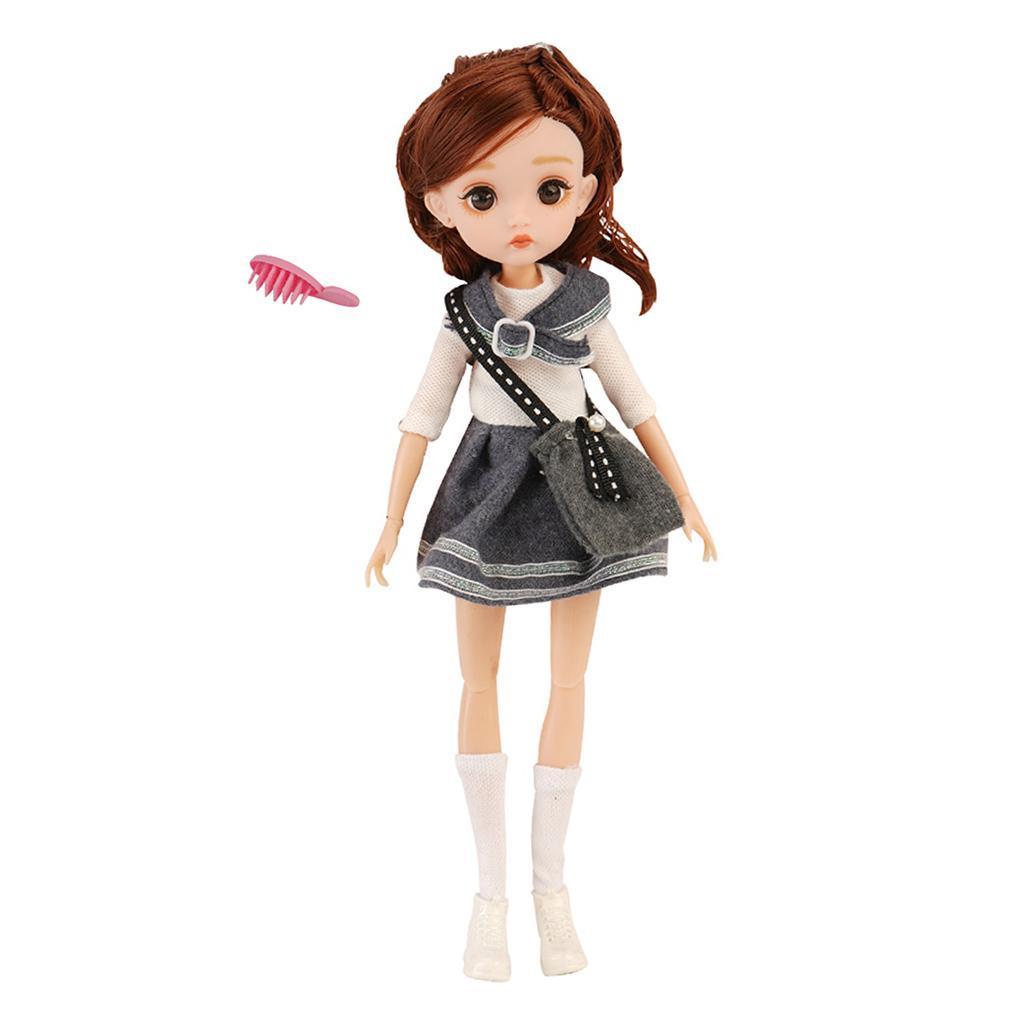 11-Joints-30cm-BJD-Doll-Cute-Dress-Up-3D-Big-Eyes-Girls-Princess-Doll-Toys thumbnail 32