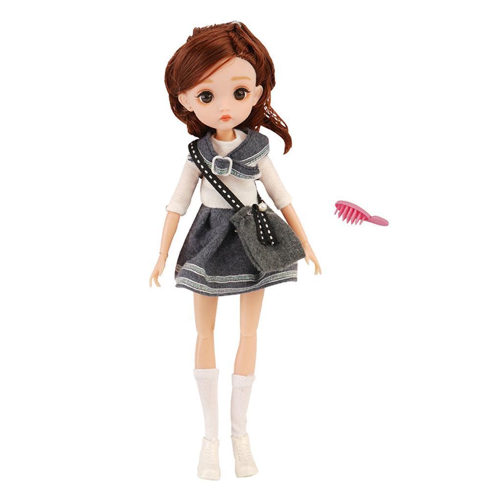 11-Joints-30cm-BJD-Doll-Cute-Dress-Up-3D-Big-Eyes-Girls-Princess-Doll-Toys thumbnail 33