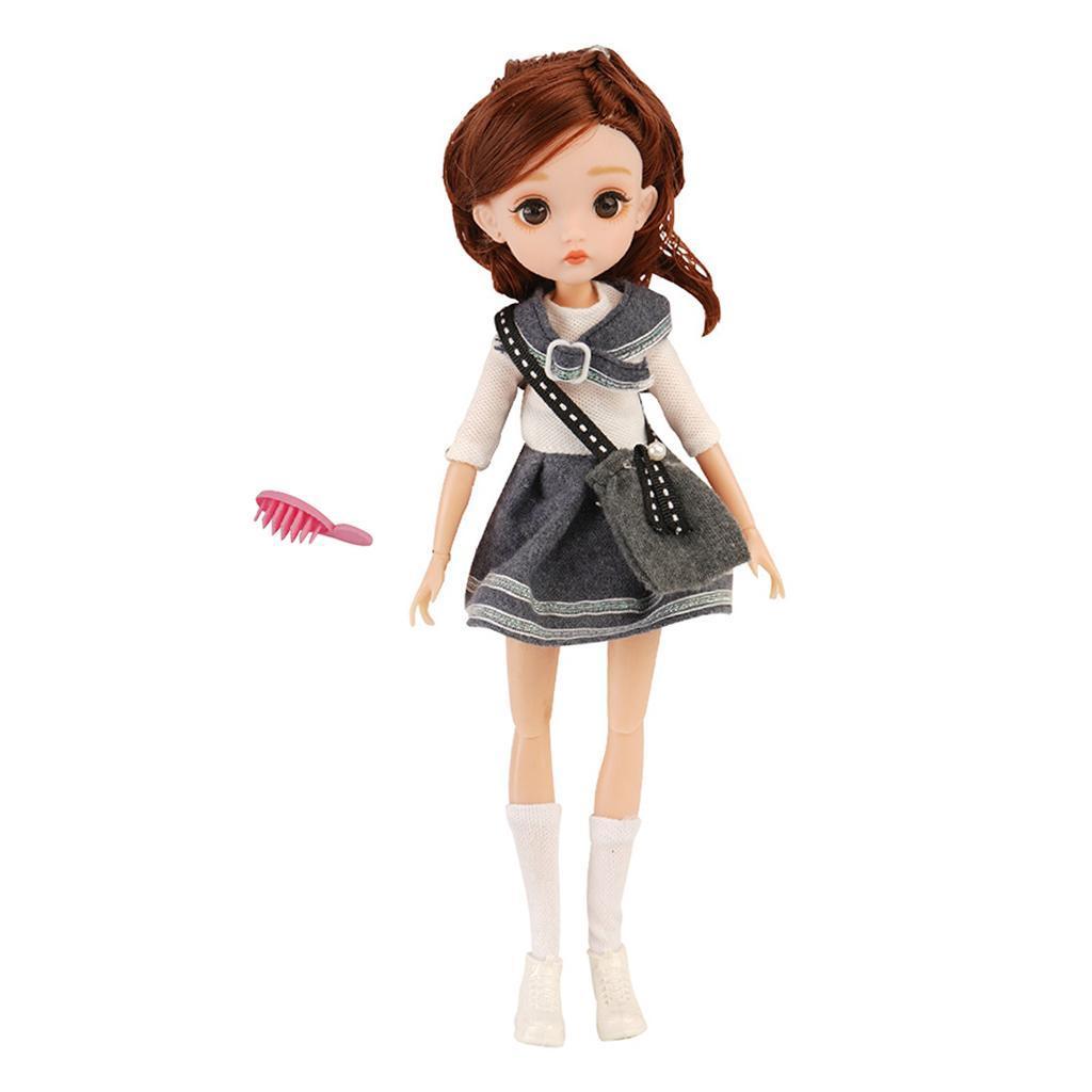 11-Joints-30cm-BJD-Doll-Cute-Dress-Up-3D-Big-Eyes-Girls-Princess-Doll-Toys thumbnail 35