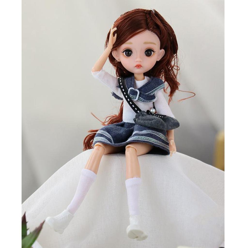 11-Joints-30cm-BJD-Doll-Cute-Dress-Up-3D-Big-Eyes-Girls-Princess-Doll-Toys thumbnail 36