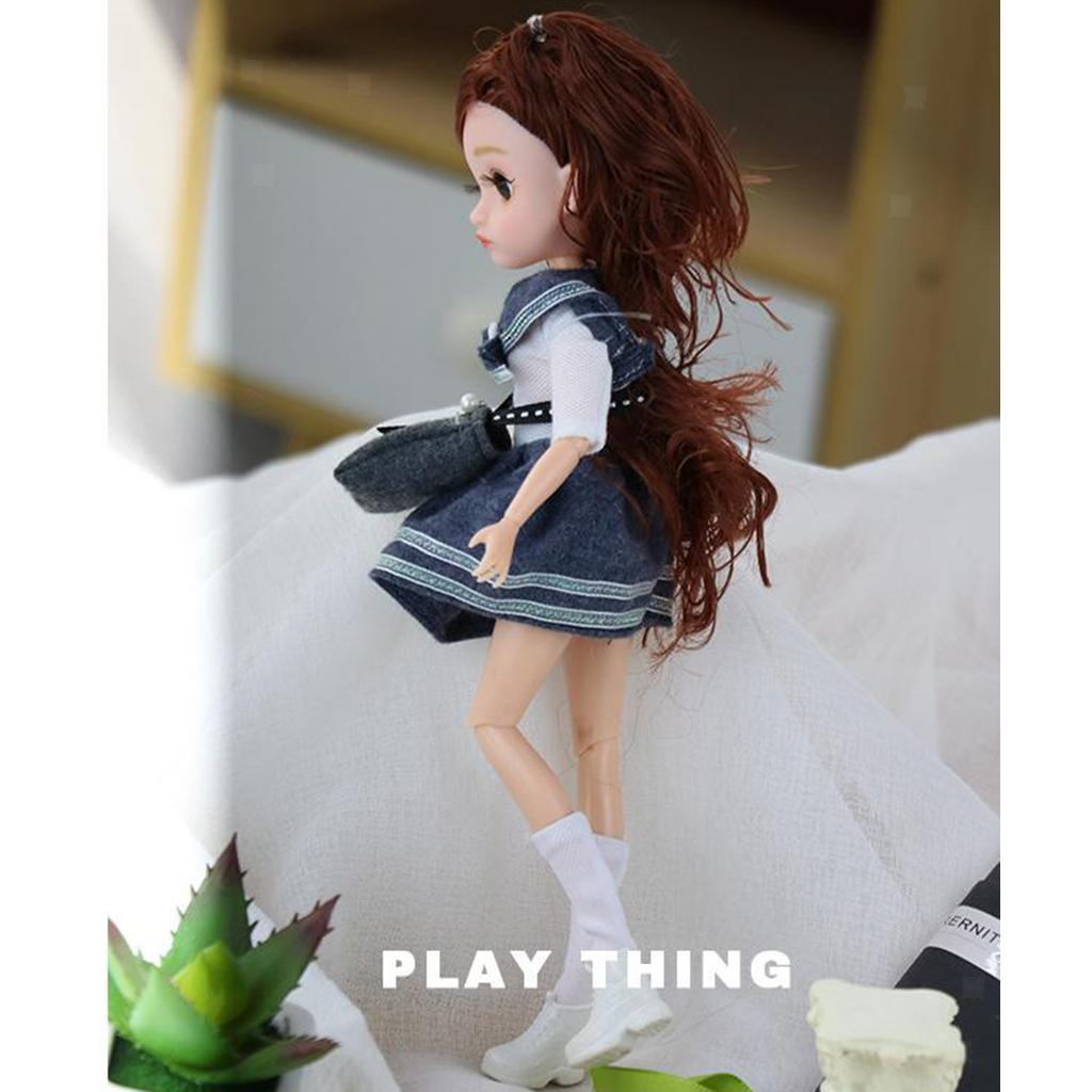 11-Joints-30cm-BJD-Doll-Cute-Dress-Up-3D-Big-Eyes-Girls-Princess-Doll-Toys thumbnail 37