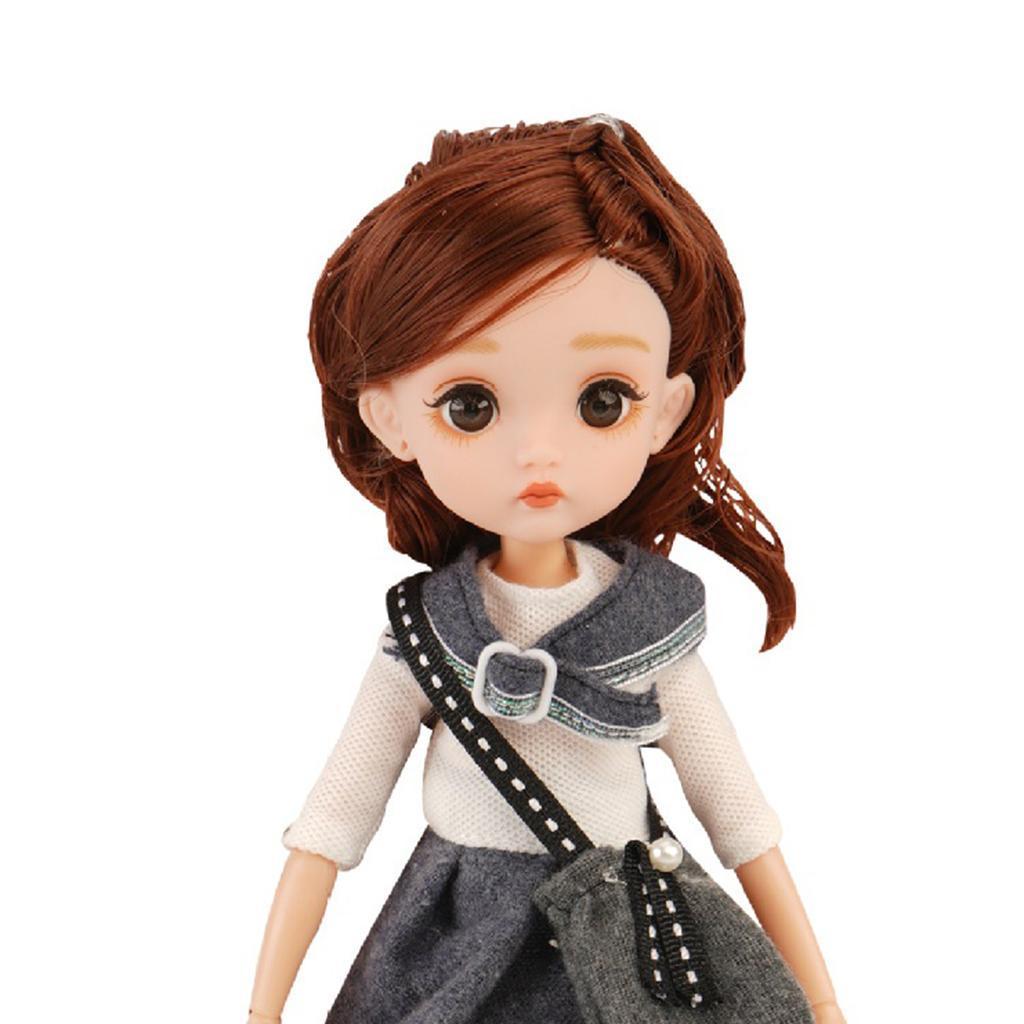 11-Joints-30cm-BJD-Doll-Cute-Dress-Up-3D-Big-Eyes-Girls-Princess-Doll-Toys thumbnail 39