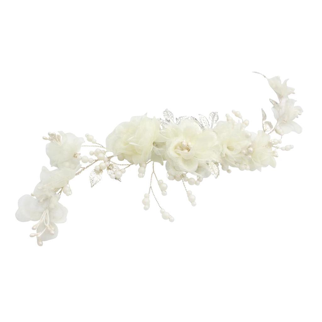 thumbnail 5 - Pearls Hair Comb Flower Wedding Headdress Bridal Hair Accessories Headpiece