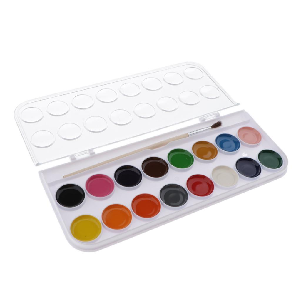 12-16-28-36-Colors-Solid-Watercolor-Paints-With-brush-For-Art-Crafts-Paint thumbnail 12