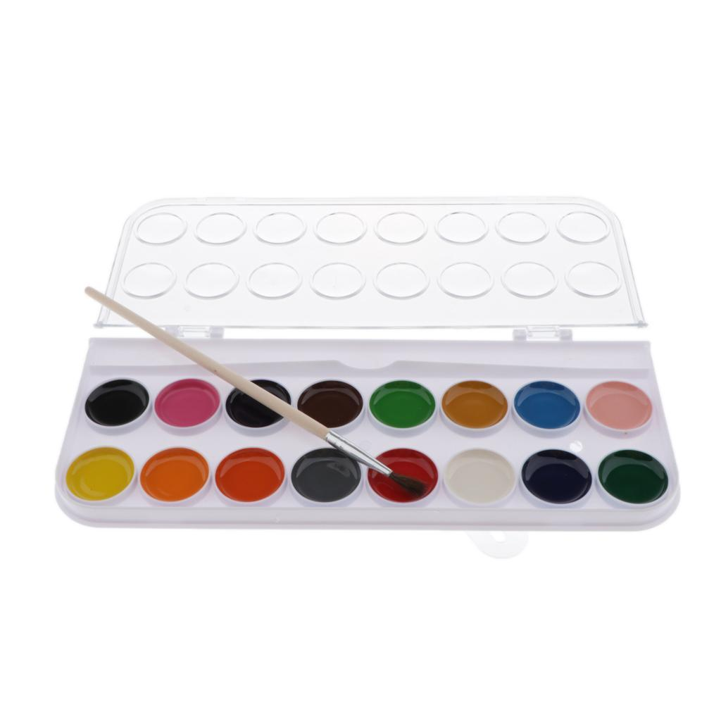 12-16-28-36-Colors-Solid-Watercolor-Paints-With-brush-For-Art-Crafts-Paint thumbnail 13