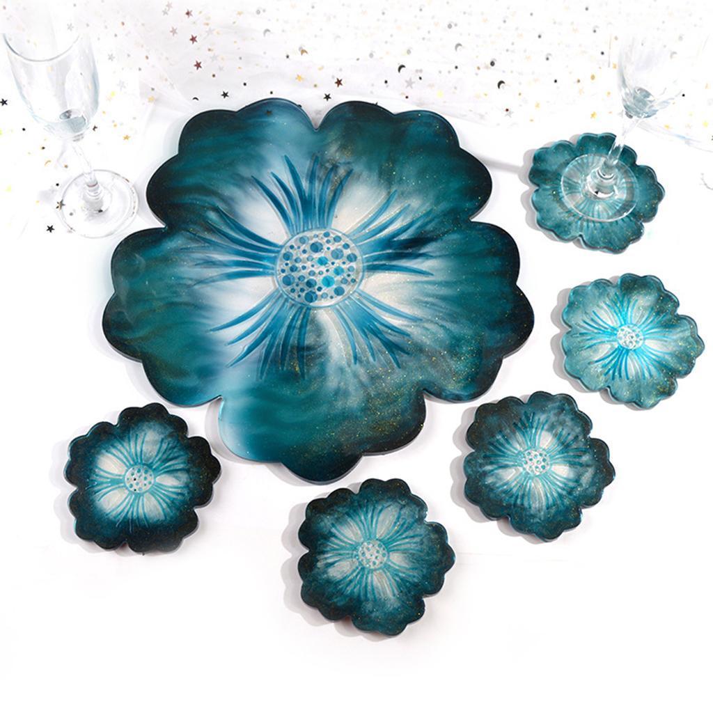 Indexbild 11 - Klar-Blumen-Coaster-Silikon-Form-DIY-Harz-Casting-Mould-fuer-Schmuck-Machen