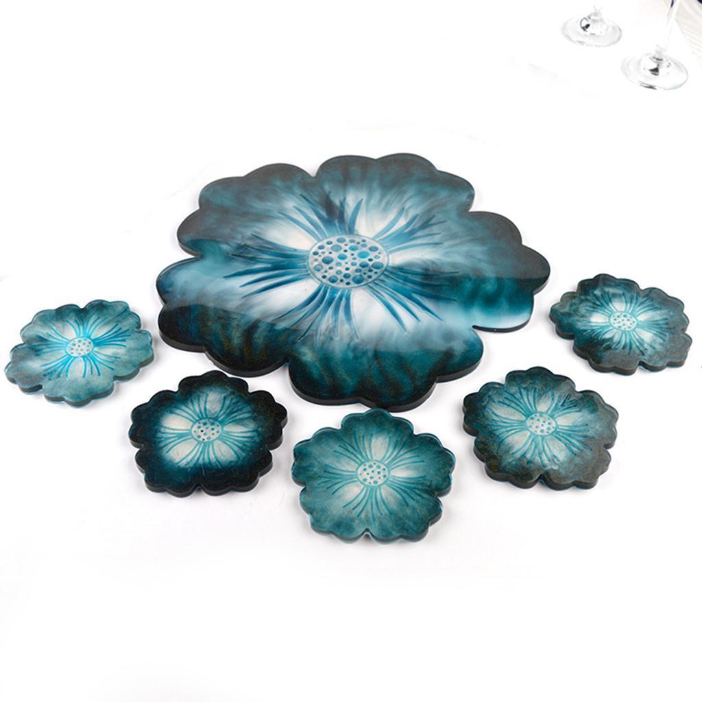 Indexbild 12 - Klar-Blumen-Coaster-Silikon-Form-DIY-Harz-Casting-Mould-fuer-Schmuck-Machen