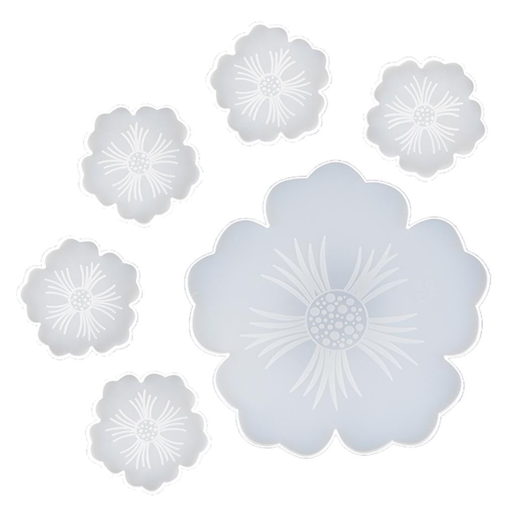 Indexbild 13 - Klar-Blumen-Coaster-Silikon-Form-DIY-Harz-Casting-Mould-fuer-Schmuck-Machen