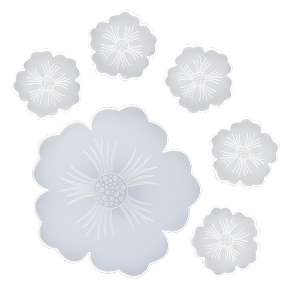 Indexbild 14 - Klar-Blumen-Coaster-Silikon-Form-DIY-Harz-Casting-Mould-fuer-Schmuck-Machen