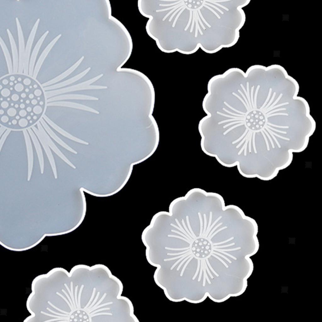 Indexbild 8 - Klar-Blumen-Coaster-Silikon-Form-DIY-Harz-Casting-Mould-fuer-Schmuck-Machen