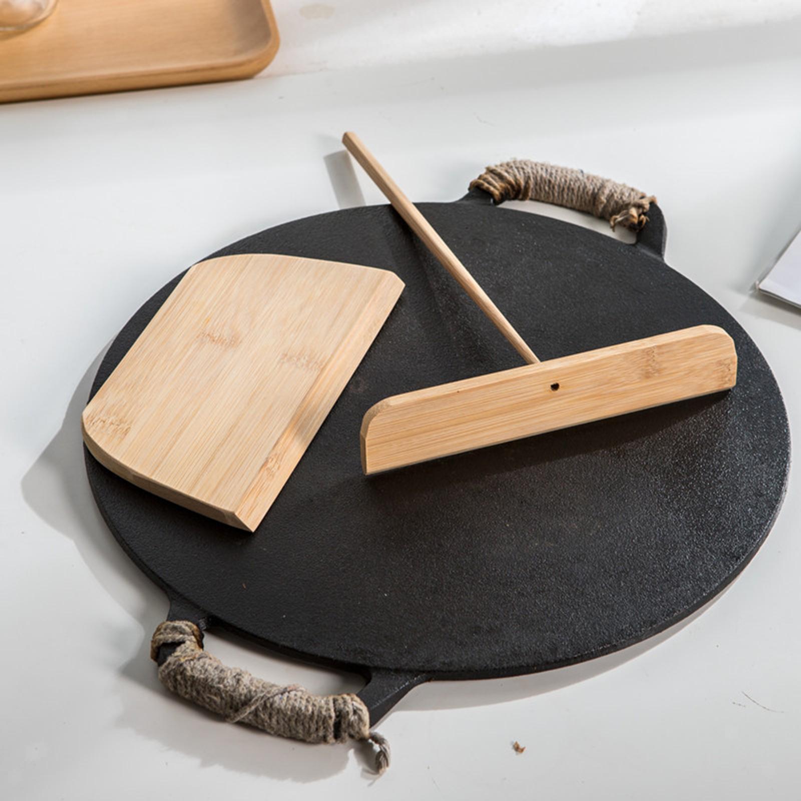 miniatura 4 - Utensile da cucina per la casa con spalmatore in legno per pancake con forma a T
