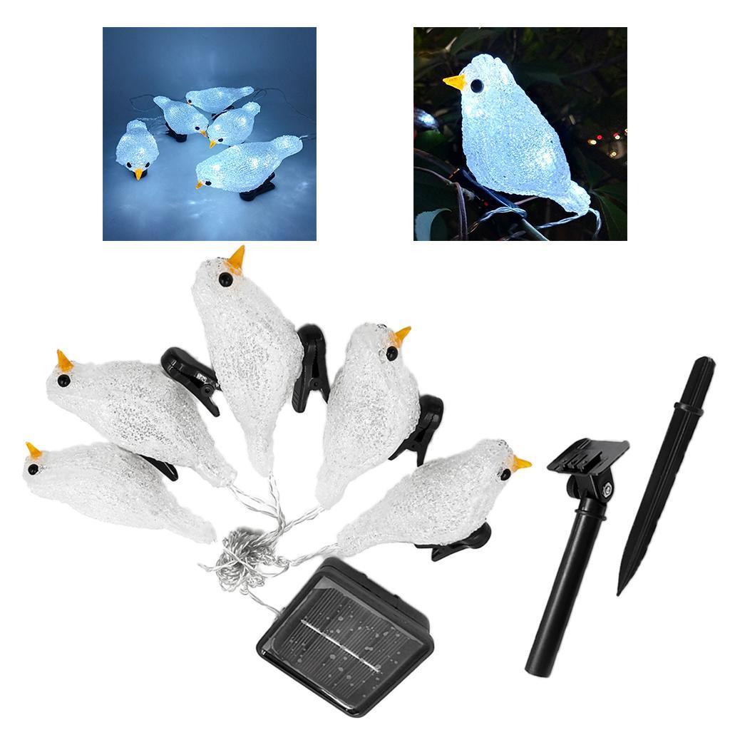 miniature 19 - 5 solaire Oiseaux Jeu de Lumières avec Clip Jardin Paysage De Noël Décor