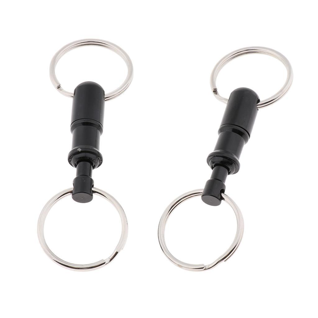 2pcs-Detachable-Keychain-Pull-Apart-Quick-Release-Removable-Key-Rings thumbnail 19