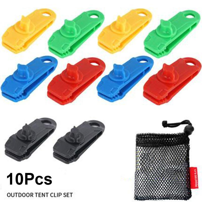 10Pcs Tarp Clips Tent Clamps for Tarps Outdoor Camping Caravan Canopies