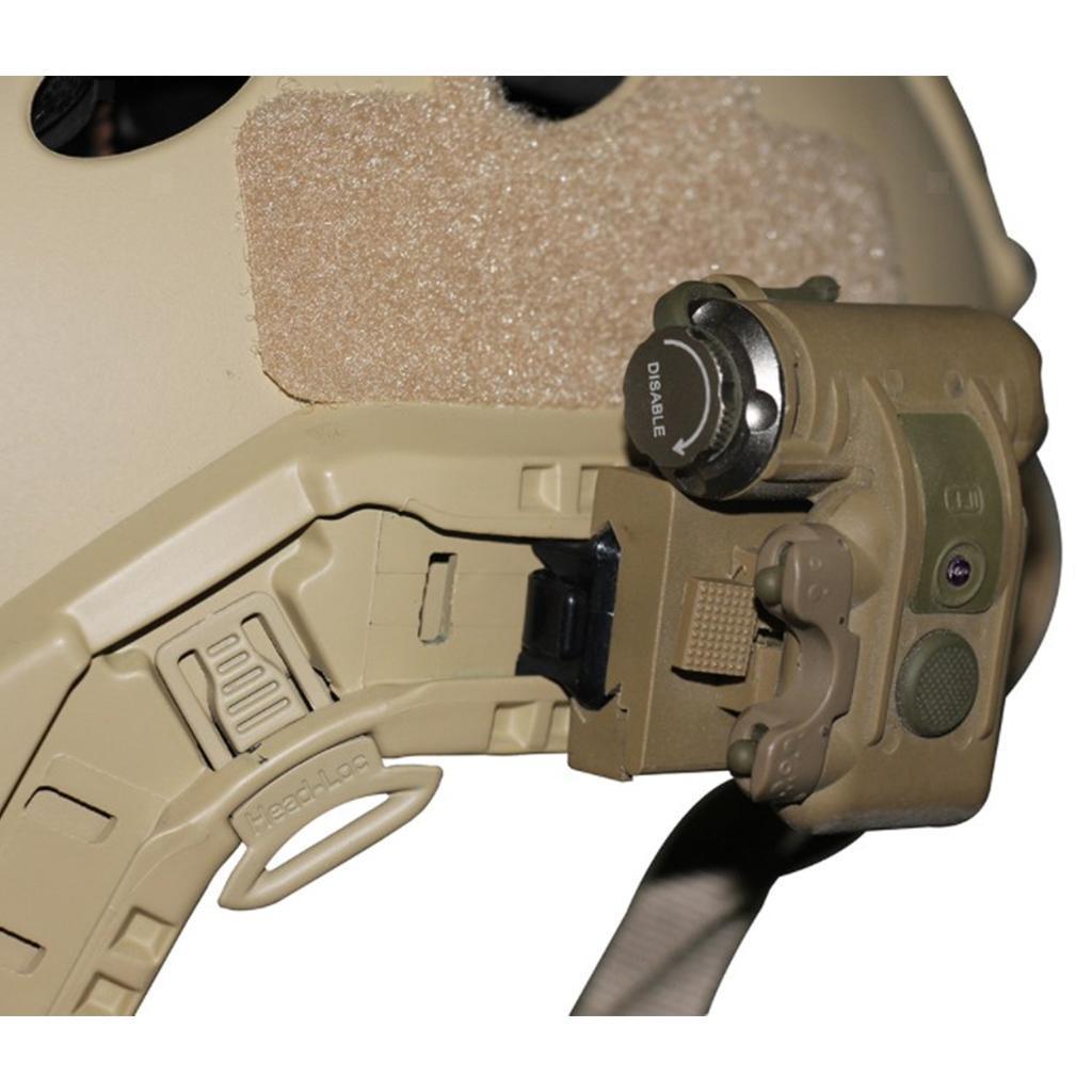 Taktische Helm Licht IR LED IFF Kopf Lampe Taschenlampe für CS Gaming Jagd