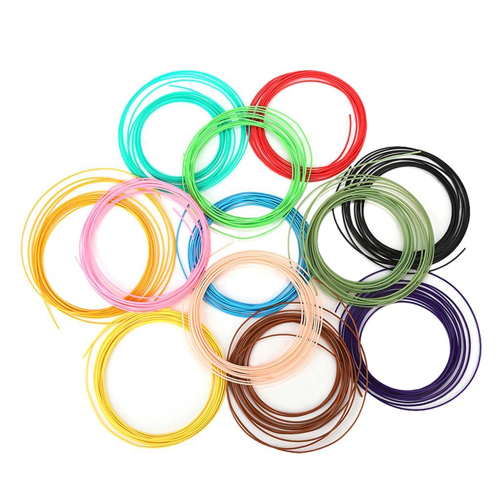 1 Set 12Colors 5m ABS 3D printer filament,ABS 3D Printing Filament 1.75mm Spool