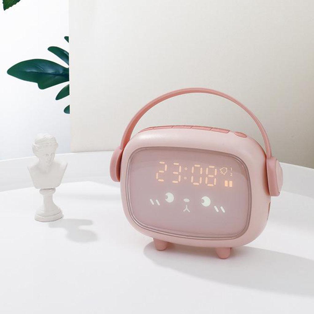 Kids-Night-Light-Sveglia-Camera-da-letto-Night-Sleeping-Lamp-Bambini-Sleep miniatura 7