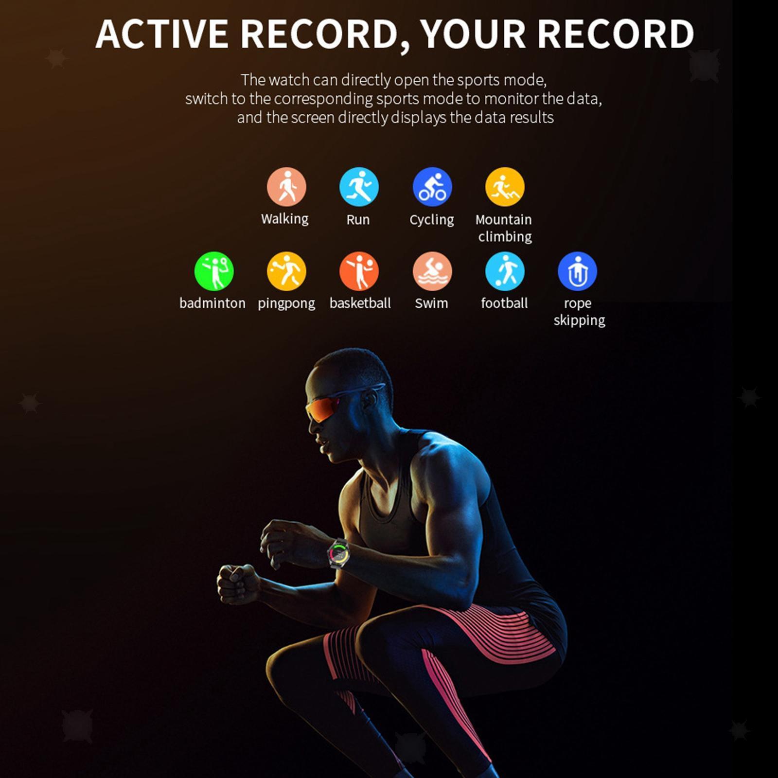 miniature 19 - D'affaires Sport Montre Intelligente Fitness Tracker Calorie Counter pour