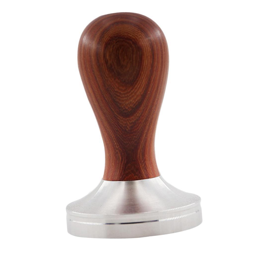 Wooden Handle Coffee Hammer Espresso Tamper Press Powder Bean Brew Tool 49mm