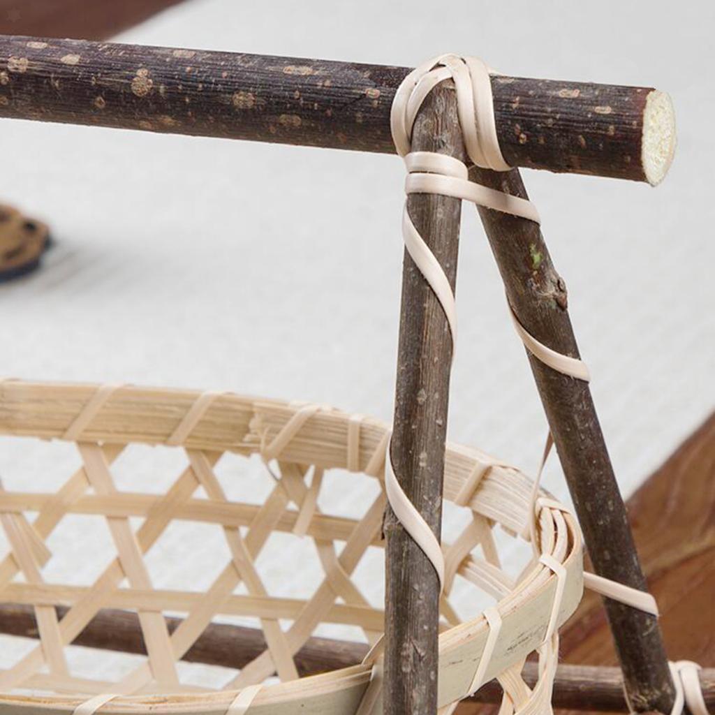 miniatura 23 - Vimini Pane di Frutta Dado Snack Buffet Cesto Di Bambù Tessuto Del Display