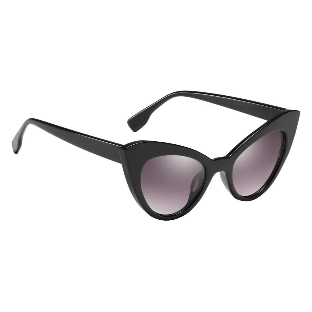 Frauen-Damen-Weinlese-Art-Katzenauge-Sonnenbrille-Plastikrahmen-UV400 Indexbild 3