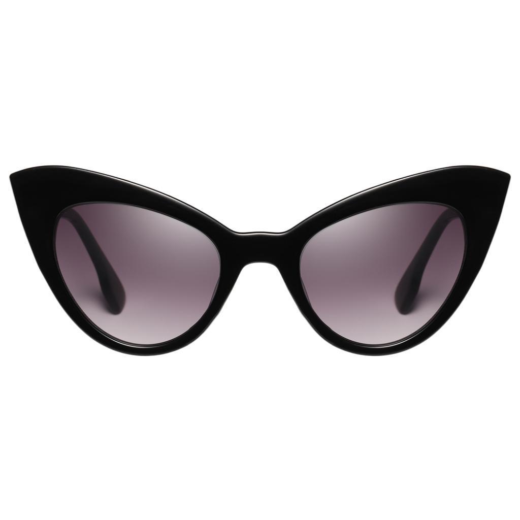 Frauen-Damen-Weinlese-Art-Katzenauge-Sonnenbrille-Plastikrahmen-UV400 Indexbild 4