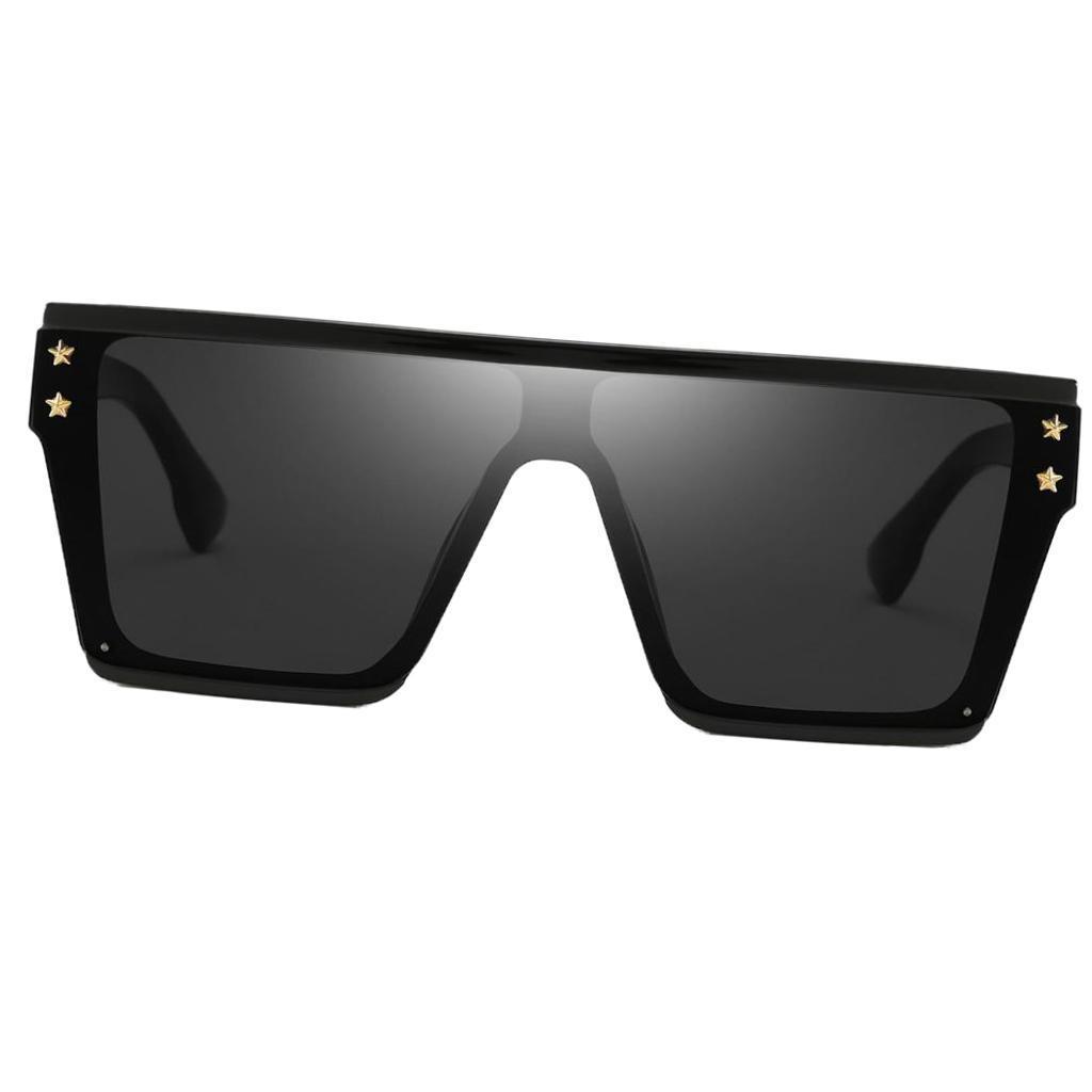 Square-Oversize-Sonnenbrillen-Fashion-Flat-Top-UV400-Sonnenbrille-fuer Indexbild 3