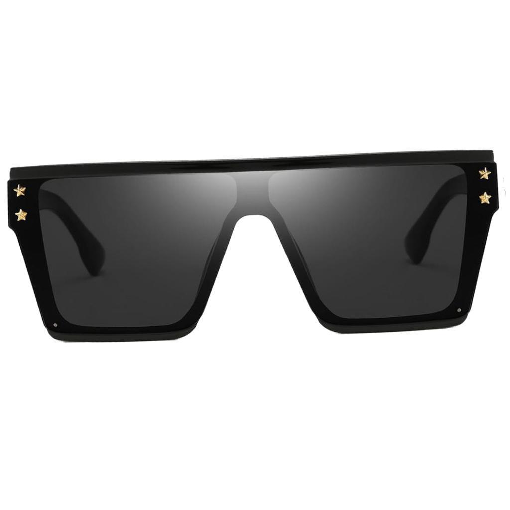 Square-Oversize-Sonnenbrillen-Fashion-Flat-Top-UV400-Sonnenbrille-fuer Indexbild 4