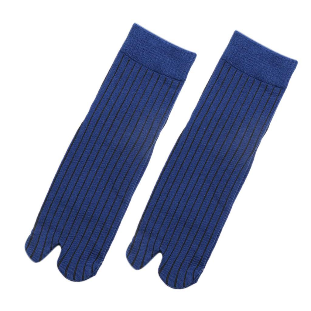 Men-100-Cotton-2-Toe-Socks-Stripes-Tabi-Socks-Hallux-Valgus-Corrector miniature 7