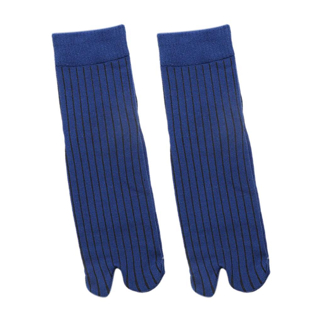 Men-100-Cotton-2-Toe-Socks-Stripes-Tabi-Socks-Hallux-Valgus-Corrector miniature 9