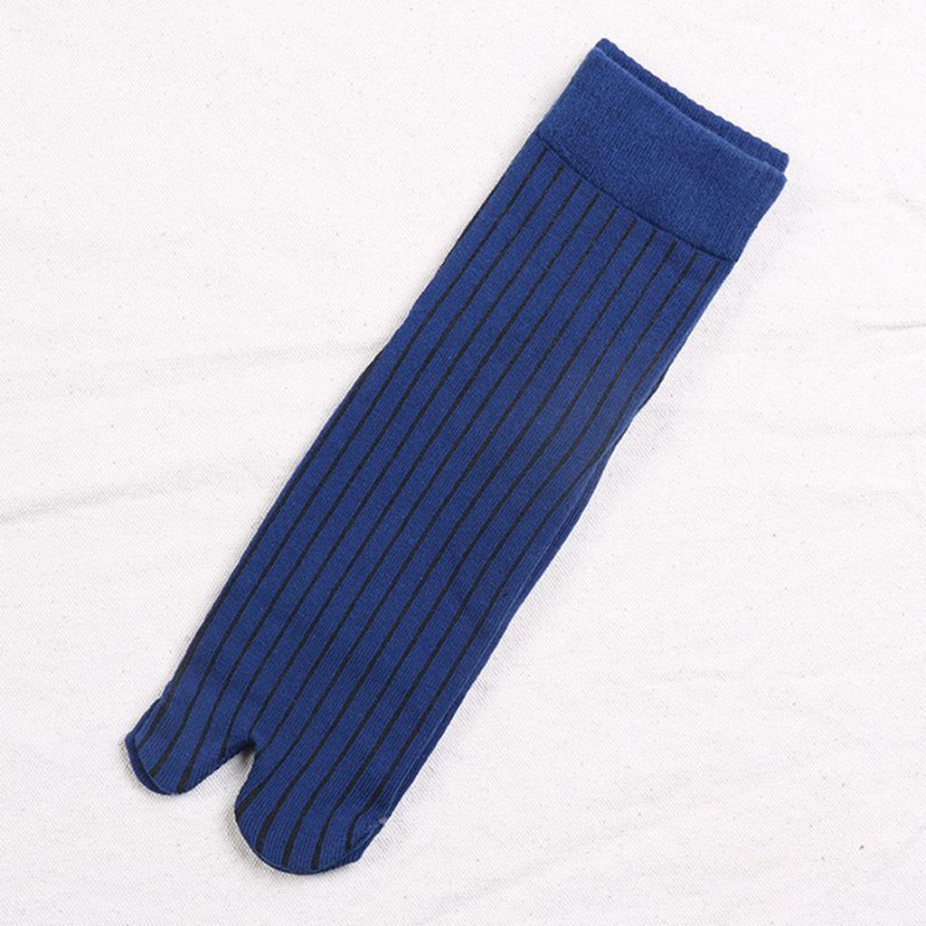 Men-100-Cotton-2-Toe-Socks-Stripes-Tabi-Socks-Hallux-Valgus-Corrector miniature 11