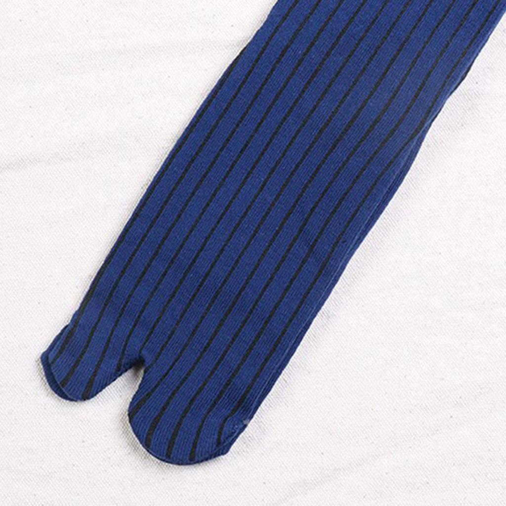 Men-100-Cotton-2-Toe-Socks-Stripes-Tabi-Socks-Hallux-Valgus-Corrector miniature 12