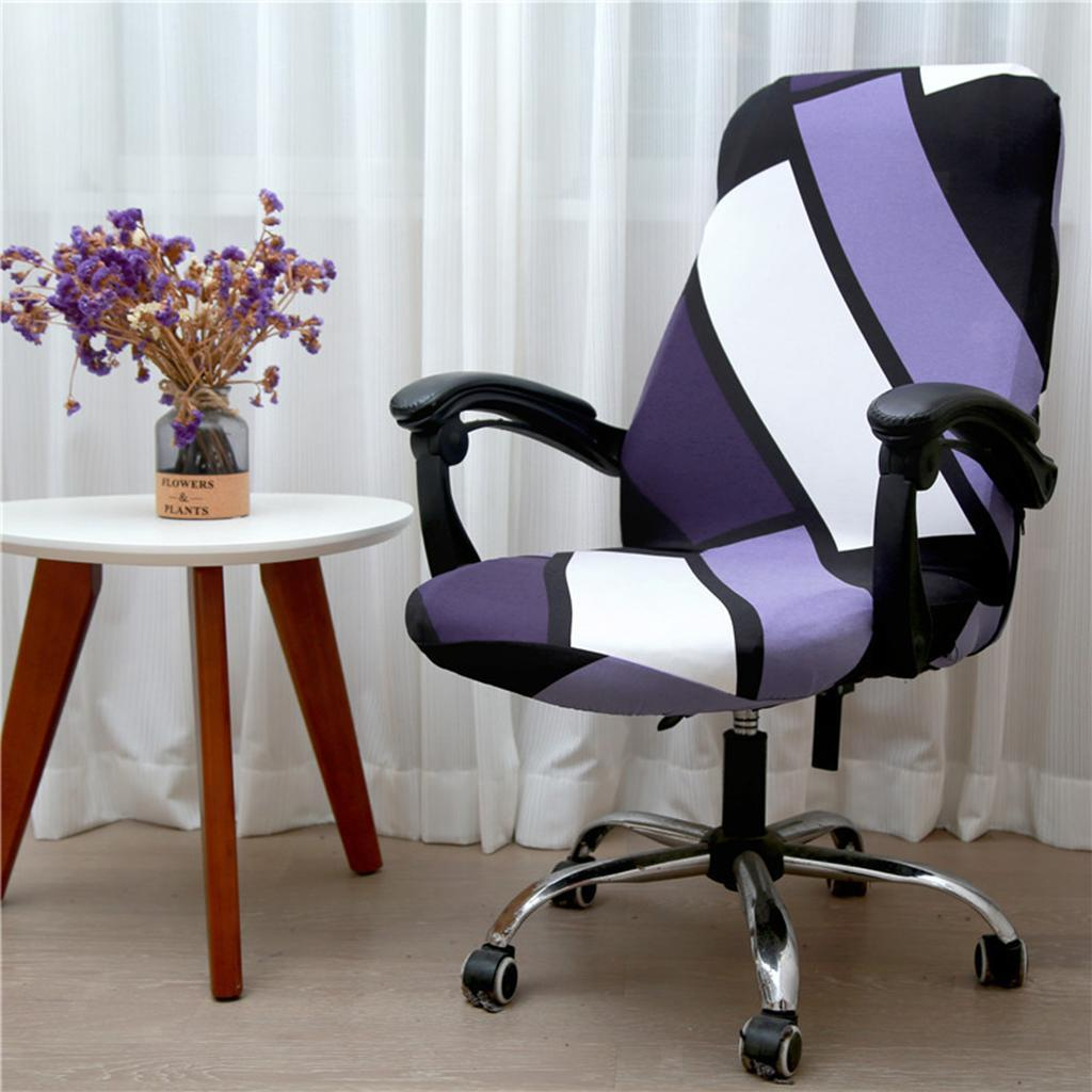 Details about Decorative Computer Office Chair Cover Stretch Spandex Desk  Chair Slipcover