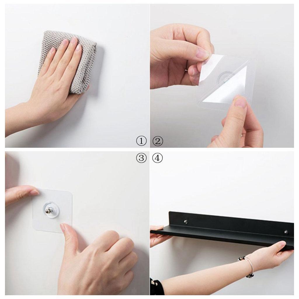 miniatura 49 - In Acciaio al carbonio Mensola Mobile per la Casa Dell'organizzatore