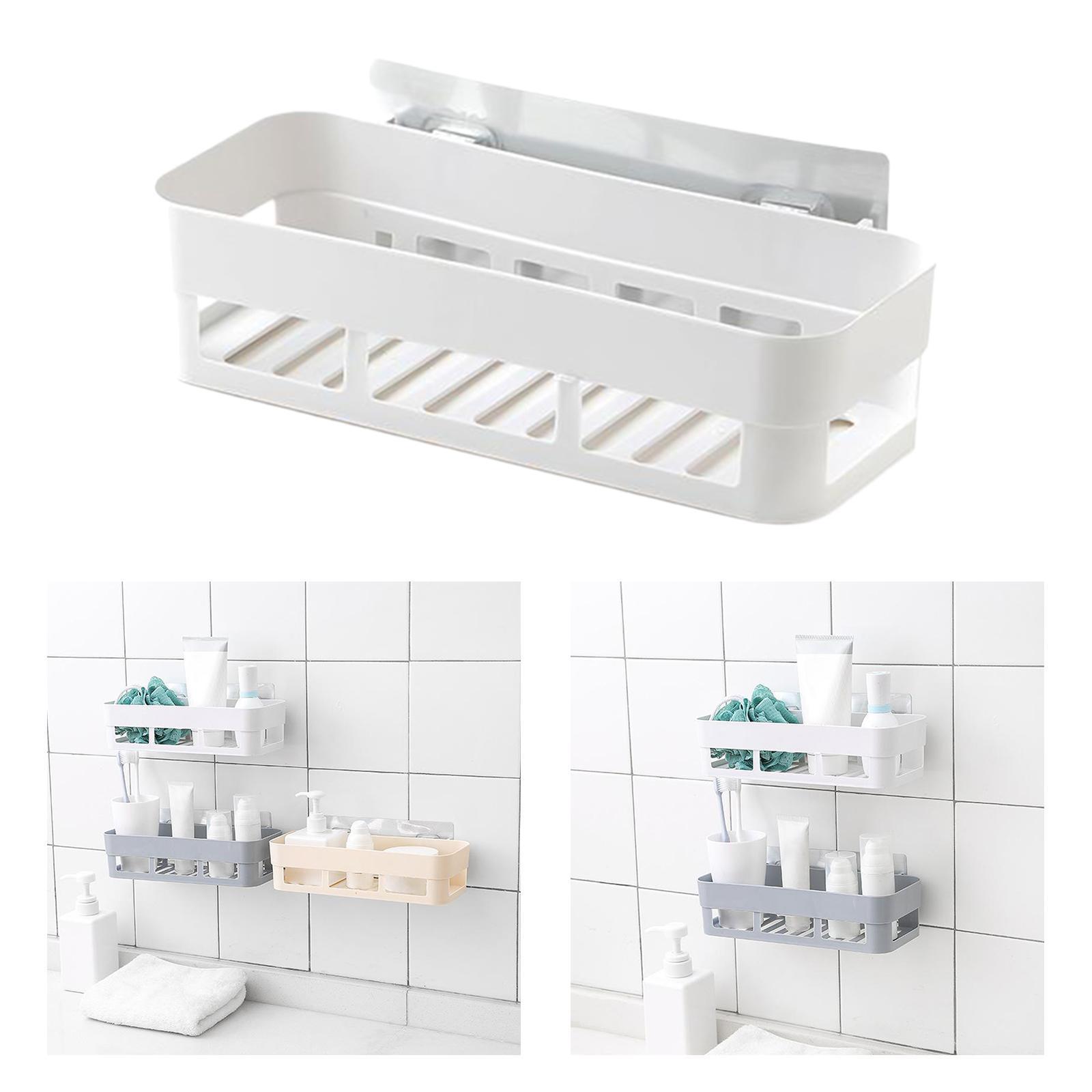 thumbnail 4 - Wall-Suction-Bathroom-Shelf-Shower-Caddy-Wall-Mount-Storage-Rack-Organizer