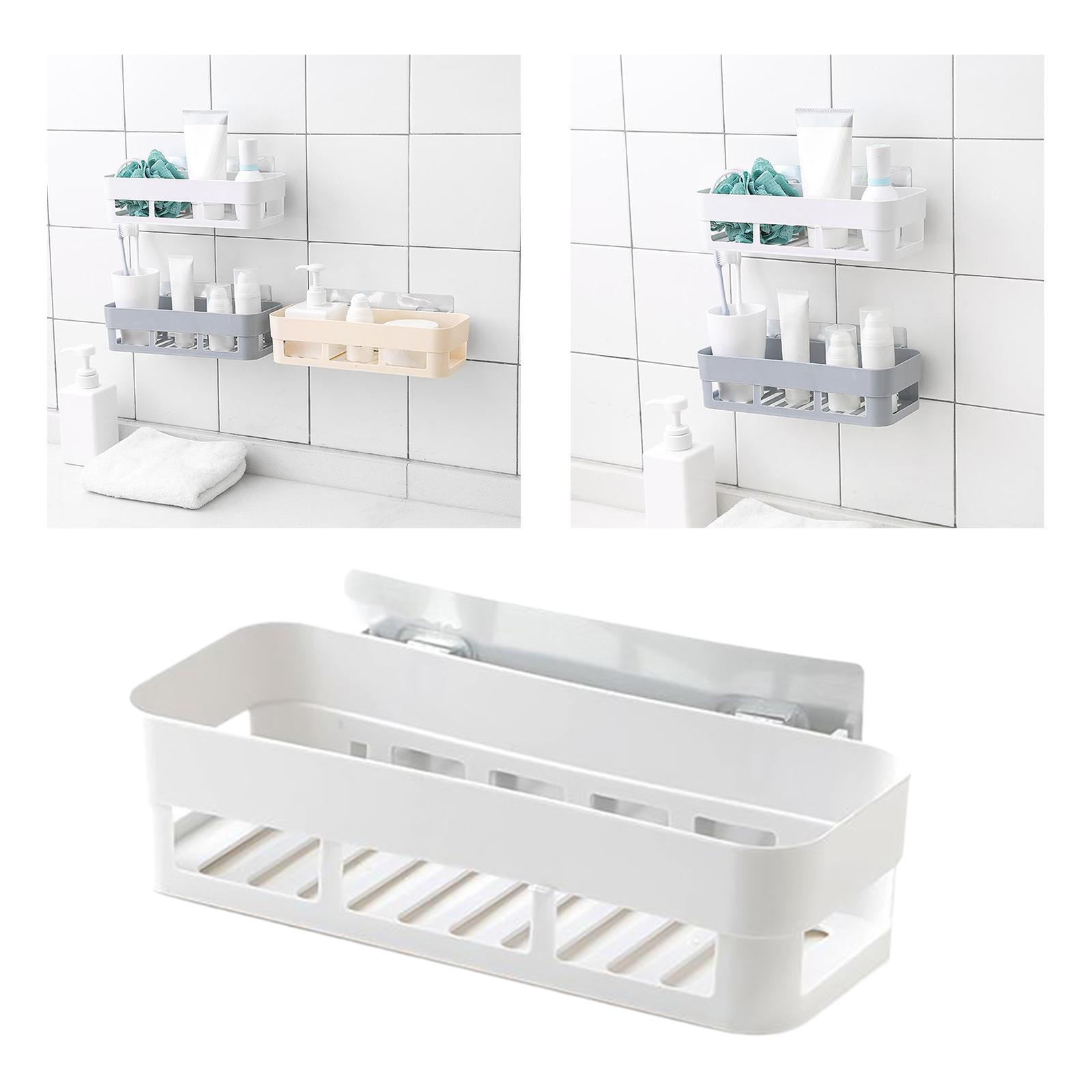 thumbnail 10 - Wall-Suction-Bathroom-Shelf-Shower-Caddy-Wall-Mount-Storage-Rack-Organizer