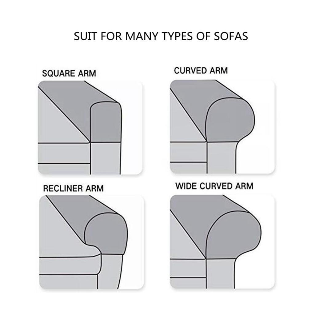 miniatura 3 - Stretch In Tessuto Bracciolo Copre Mobili Protezione Divano Poltrona Fodere